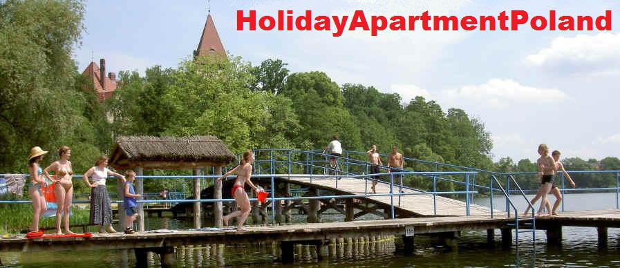 Holiday let - cheap, comfortable, vacation apartment for rent in lake resort in west Poland